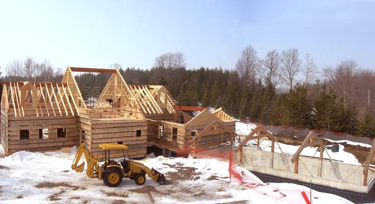 Hand hewn log homes ontario joy studio design gallery for Hand hewn log cabin kits