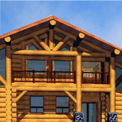 Like a Person, a Log Home with Character has a Sence of Balance